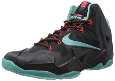 Nike Lebron XI, Chaussures de sport homme - Noir (Black/Dffsd Jd/Lt Crmsn/Jd Glz), 44.5 EU