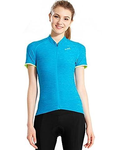 Baleaf Women's Space Dye Short Sleeve Cycling Jersey UPF 30+