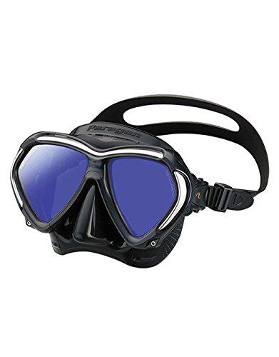 TusaParagon tauchmaske taucherbrille erwachsene profi UV Filter korrektur optische Gläser kompatibel - Schwarz/Silber