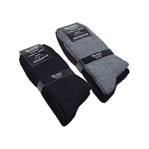 Basketball Quarter Socken (6 Paar Herren Socken Quarters Freizeitsocken Business Sportsocken Baumwolle, 43-46, 6x Business Mix 2)