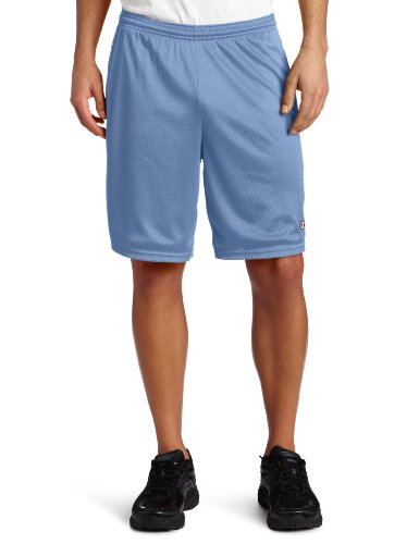 Champion Long Mesh Men's Shorts With Pockets Hellblau