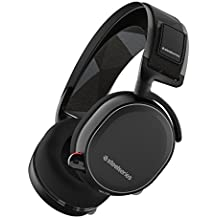 SteelSeries Arctis 7 - Auriculares para juego, Inalámbrico, DTS 7.1 Surround para PC, Mac, PlayStation 4, Android, iOS, VR, color Negro