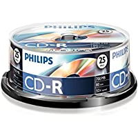 Philips CD-R 80 Minute 52x Spindle - 25Pack