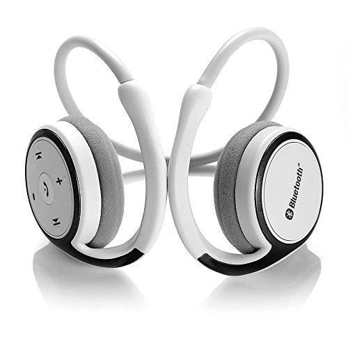 Suicen Running Man Kopfhörer, Bluetooth 4.0, mit Anrufannahme Kompatibel mit iPhone 7, iPhone 7 Plus, Samsung und andere Bluetooth-Gerät (weiß)