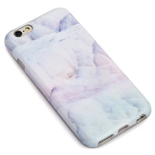 SGSELLER 4.7 iPhone 6 6S TPU Slim Fit Ultra Dünn Stoßfest Anti-Kratz Anti-Fingerabdruck Matt Schutzhülle Gehäuse, Plastik, Marmor (Holz) Marble (Shell Lilac)