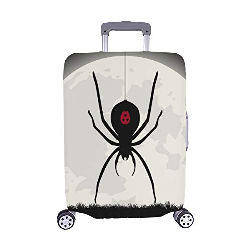 (Nur abdecken) Happy Halloween Schwarze Witwe Spinne Staubschutz Trolley Protector case Reisegepäck Beschützer Koffer Abdeckung 28,5 X 20,5 (Schwarze Witwe Halloween)