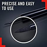 Rimmel London Exaggerate Liquid Eyeliner, Long-lasting and Smudge-proof Formula with Maximum Precision Application, Black, 2.5 g