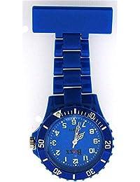 BOXX Funky Blue Rotating Bezel Nurses Fob Watch