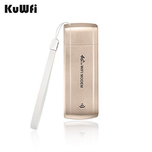 KuWFi 100Mbps Desbloqueado Mini 4G USB WiFi Router Red Hotspot 4G / 3G Car WiFi Router Hotspot De Red Inalámbrica Con Tarjeta SIM Slot B1 / B3 / B5 FDD Al Aire Libre Y De Interior En El Autobús O En El Coche (Tarjeta SIM No Incluida, La Necesidad De Comprar En El Local) Soporte 4G Band1 / Band3