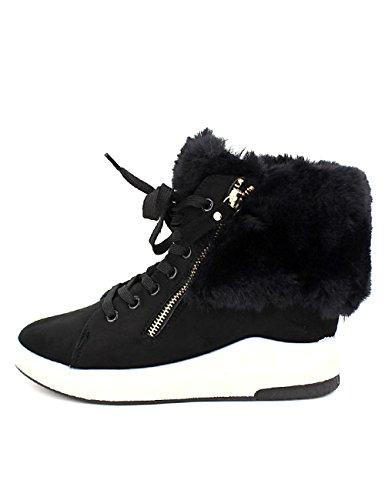 Noires Baskets Fourrées Cendriyon Chaussures Femme X7rq1wv1b Nanys Noir 0nwOk8PX
