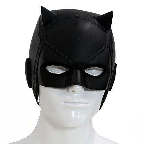 Halloween Maske Rote Schwarz PVC Helm Cosplay Kostüm Erwachsene Costume Prop Murdock (Daredevil Cosplay Kostüm)