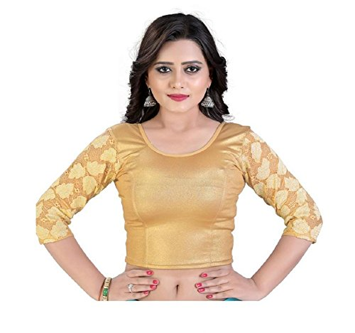 PRE SMART GOLDEN READY MADE STITCHED STRETCHABLE BLOUSES