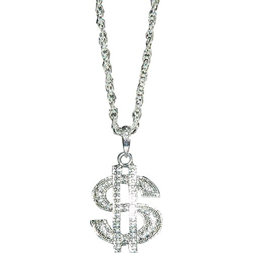 La Rigolade Die Witz-ac3033Halskette Dollar Metal Silber (Dollar Zeichen Kostüm Halskette)