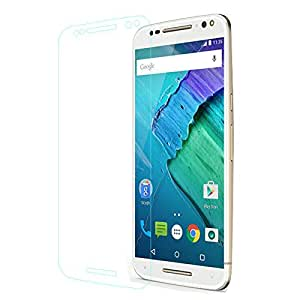 a AND b Tempered Glass Screen Guard [2.5D 0.3mm] Screen Protector For Motorola Moto X Style (Moto_XS_TP)
