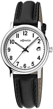 ساعة ليدي شيك بحركة كوارتز للسيدات من ام واتش، مينا ابيض، عرض انالوج. إنها ساعة مثالية للنساء بسوار من الجلد ا
