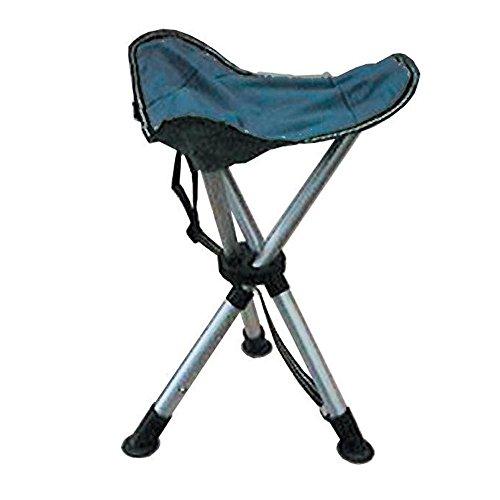 3-Fuß Hocker aus Aluminium, 33x33 cm, 750 g,faltbar || Camping Stuhl Dreibein Hocker Klapp Sitz Campinghocker Faltstuhl Anglerhocker