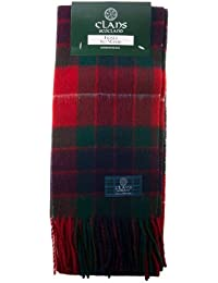 Dei Clan di scozia Pure in lana Tartan Scozzese sciarpa 907355c844aa