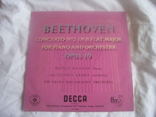 "LX 3083 WILHELM BACKHAUS Beethoven Concerto 2 10"" LP"