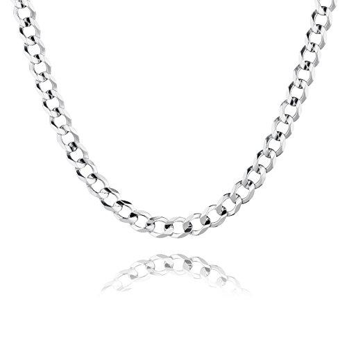 STERLL Herren Halskette Silber 925 55 cm Ohne Anhänger Geschenkbox Männer Geschenke
