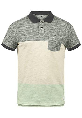 Blend Johansus Herren Polo-Shirt T-Shirt Kurzarm mit Polokragen Aus 100% Baumwolle Meliert, Größe:M, Farbe:Pewter Mix (70817)