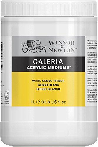 Winsor & Newton 3054948 Galeria Gesso Primer, 1 Liter Topf, Grundierung für die Leinwand, weiß