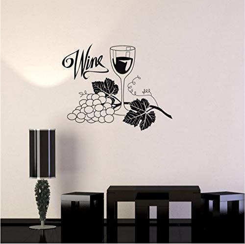 (Lvabc 57X86 Cm Weintrauben Glas Alkohol Wandaufkleber Wasserdichte Vinyl Wandtattoo Drink Bar Küche Wandaufkleber Home Design Tapete)