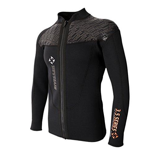 Homyl Herren UV Shirt Langarm Neoprenanzug Jacke Neopren Schwimmanzug Suft Shirt Badeshirt Rash Guard Oberteile - M