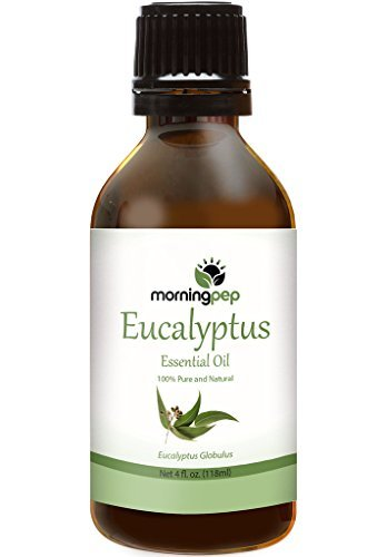 Morning Pep EUCALYPTUS OIL 4 OZ Large Bottle 100 % Pure And Natural Therapeutic Grade , Undiluted PREMIUM QUALITY Aromatherapy EUCALYPTUS Essential oil (118 ML) Happy with Your purchase or Your Money Back. by Morning Pep