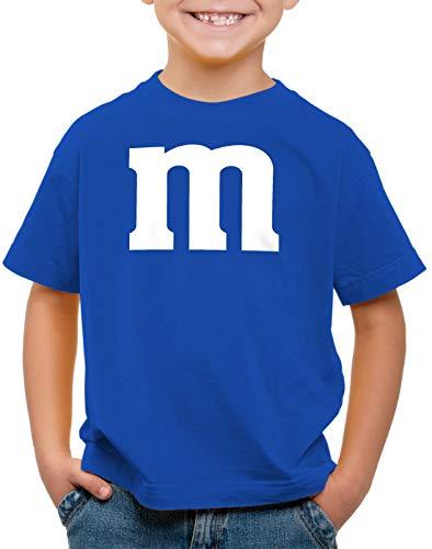 Kostüm Paar Billig - style3 m Kinder T-Shirt für Fasching und Karneval Gruppen-Kostüm Paar-Verkleidung JGA Party, Farbe:Blau, Größe:140