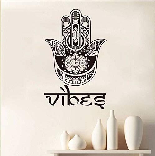 Lvabc Beten Sie Für Gesundheit Symbol Lotus Auge Hamsa Hand Wandaufkleber Vinyl Abnehmbare Selbstklebende Aufkleber Wasserdichte Kunstwandhauptdekor