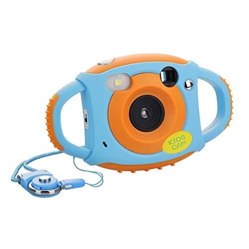 Tyhbelle Digital Kamera für Kinder Kinderkamera mit Wiederaufladbare Batterien 500 Millionen Pixel 1,77-Zoll-Farbbildschirm (Orange)
