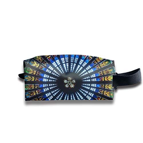 Notre Dame De Paris Druck Jacquard Woven 4 Tragbare Reise Make-up Kosmetiktaschen Organizer Multifunktions Tasche Taschen für Unisex -