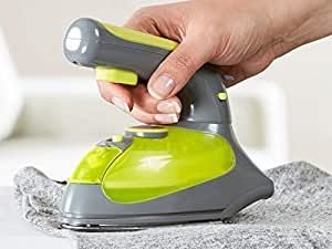 GNEY Iron, Steam Iron, Dry and Steam 4 in 1 Iron with 120g Stem Boost, Anti-Scale Vertical Iron with 5 Modes of Temperature Control, Non-Stick Soleplate, 1000w, Gray & Light Green