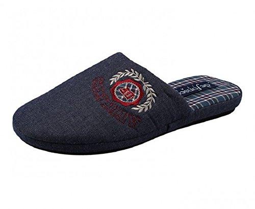 DE FONSECA pantofole ciabatte da uomo in cotone mod. REBEL 63 blu scuro (40/41)