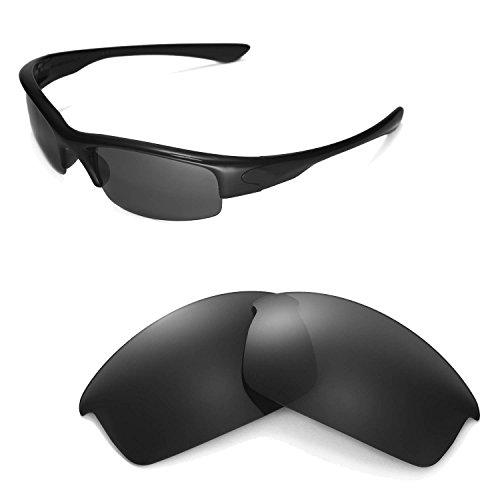 Walleva Ersatzgläser für Oakley Bottlecap Sonnenbrille - Mehrfache Optionen (Schwarz - polarisiert)