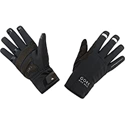 GORE BIKE WEAR, Guantes térmicos Unisex para ciclismo, GORE WINDSTOPPER, UNIVERSAL Thermo Gloves, Talla 8, Negro, GWUNIT
