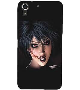 HTC DESIRE 728 DEVIL GIRL Designer Back Cover Case By PRINTSWAG