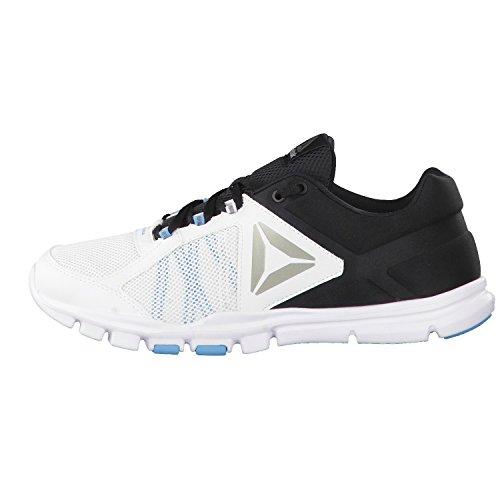 Reebok Yourflex Train 9.0 Mt, Sneaker Bas du Cou Homme Blanc Cassé (Wht/blk/ E Beam/pewter/grey)