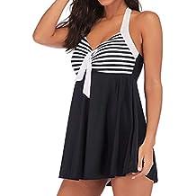 1756b5f38a Mymyguoe Falda de baño de Tallas Grandes Bañadores Bikinis de Mujer Traje  de baño Biquinis Mujeres