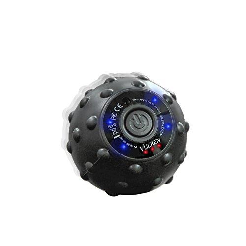 Vulken Acusphere - Bola de masaje vibrante de alta intensidad de 4 velocidades para aliviar el dolor muscular y plantar, Rodillo de Espuma, Rodillo de masaje para pies