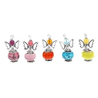 sharprepublic 5pcs Acrylic Butterfly Fairy Angel Charms Pendants for Jewelry Making
