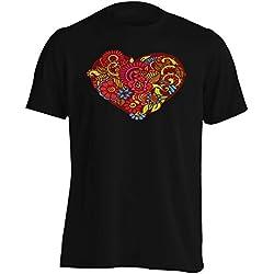 Corazón Camiseta de los hombres s952m