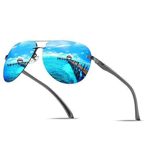Sxuefang Sonnenbrillen für Herren Männliche Randlose Luftfahrt Polarisierte Spiegel Sport Eyewear UV400 Polaroid Sonnenbrille Für Männer Pilot