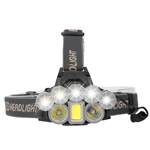 90000 Lumens LED Phares USB De Charge Phares Phares De Pêche à Longue Distance De Plein Air Phares De Clarification