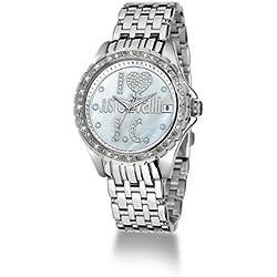 Just Cavalli EASY HEART JC R7253167545 - Reloj de mujer de cuarzo, correa de acero inoxidable color plata