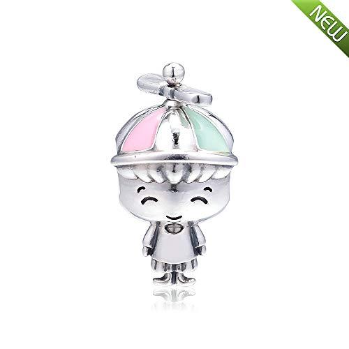PANDOCCI 2019 Muttertagsgeschenk Propeller Hut Boy Bead 925 Silber DIY passt für Original Pandora Armbänder Charm Modeschmuck
