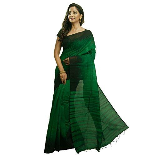 Avik Creations Latest Design Woven Soft Ikkat Jamdani Jute Style Fabric Hand...