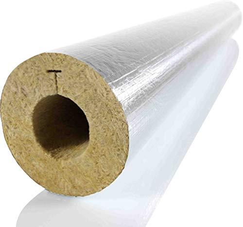 Folie Rohrleitungen (mti Steinwollerohrschale RG90 alukaschiert 18/20 | Für die Dämmung von 1/2