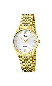 Lotus 15886/2 - Reloj de cuarzo para mujer, con correa de acero inoxidable, color dorado