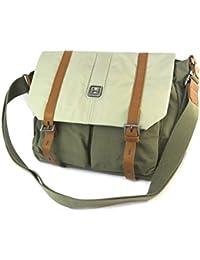 La bolsa de hombro 'Hedgren'vendimia verde caqui - 40x24x11 cm.